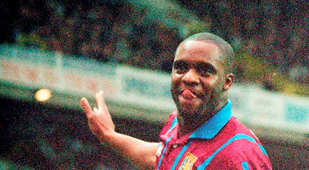 Searing pace: Former Aston Villa star Dalian Atkinson, who died after he was Tasered by police in Telford, England. Photo: PA
