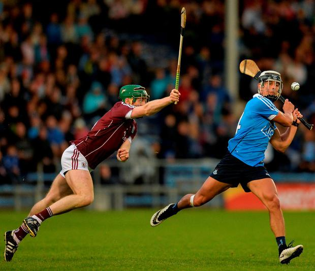 Dublin's Cian Boland in action against Galway's Shane Cooney Photo: Eóin Noonan/Sportsfile