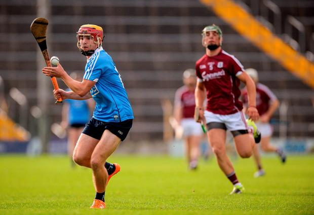 Andrew Jamieson-Murphy of Dublin scores a first half point Photo: Piaras Ó Mídheach / Sportsfile