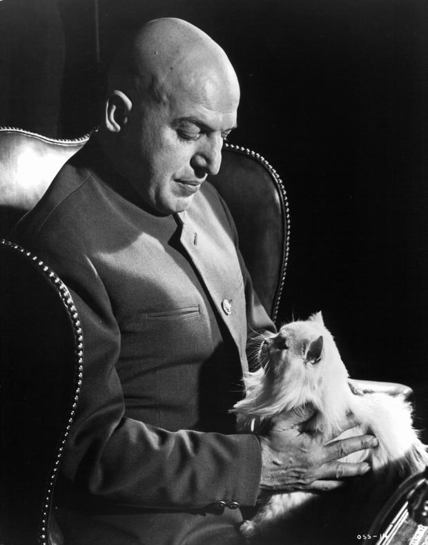 Telly Savalas as Blofeld in 'On Her Majesty's Secret Service' (1969). (Photo by United Artist/Getty Images)