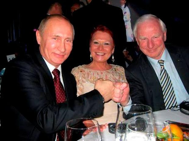 Pat Hickey and his wife Sylviana with Russian President Vladimir Putin in Moscow in 2014