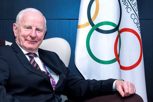 'This is not what sponsors signed up for -but it's the unwitting and grim reality of what Team Ireland's benefactors got as soon as the Rio police knocked on Pat Hickey's bedroom door at 6.30am on Wednesday morning'. Photo: Getty/AFP
