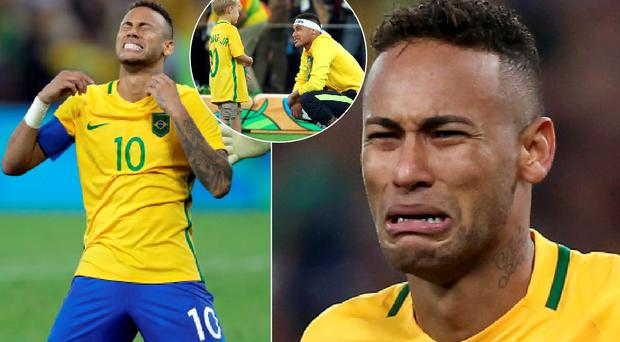 Neymar secured victory for Brazil and shared a touching moment with his son afterwards