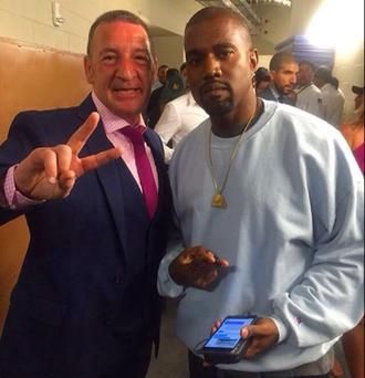 Tony McGregor pictured with Kanye West at last night's fight in Las Vegas. Photo Credit Instagram: Erin McGregor