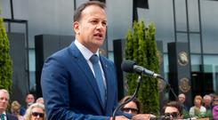 Minister for Social Protection, Leo Varadkar delivers an oration at the grave of Michael Collins during the 94th Collins/Griffith Commemoration at Glasneven cemetery. Photo: Tony Gavin 21/8/2016
