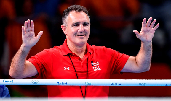 Billy Walsh celebrates. Photo: Stephen McCarthy/Sportsfile
