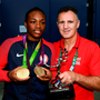 Claressa Shields won her second Olympic gold medal. Photo: Stephen McCarthy/Sportsfile