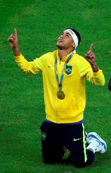 Neymar put his penalty high into the net, and before the ball had even dropped to the ground, Brazil was aflame. Photo: REUTERS/Leonhard Foeger