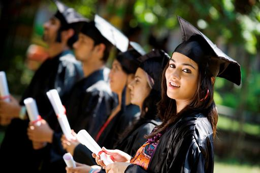 Among the benefits of going to college is longevity, according to research from the OECD (stock photo)
