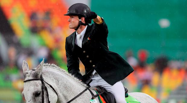 Although he made a superb effort in the show-jumping and the combined run/shooting events, the European champion had to be content with eighth place overall. Photo: David Davies/PA Wire.