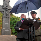 President Michael D Higgins speaking at the Béal na mBláth commemoration in Co Cork Photo: Michael Mac Sweeney/Provision