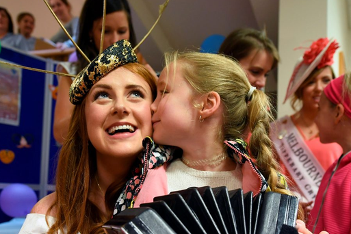 Galway Rose Rosie Burke with Kaytlyn O'Connell in the the Bon Secours Hospital Tralee Photo: Domnick Walsh