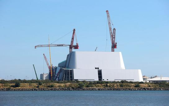 The shell-like structure of the new incinerator at Poolbeg Photo: Damien Eagers
