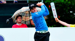 Paul Dunne of Ireland in action