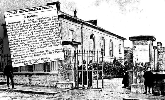 Courthouse in Tipperary (Inset: A cut-out from 'Hue and Cry')