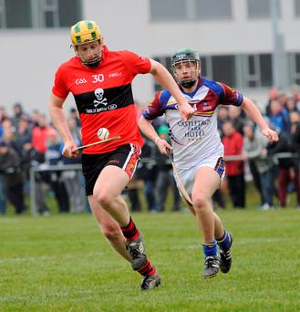 John Power in action for UCC's Fitzgibbon Cup team