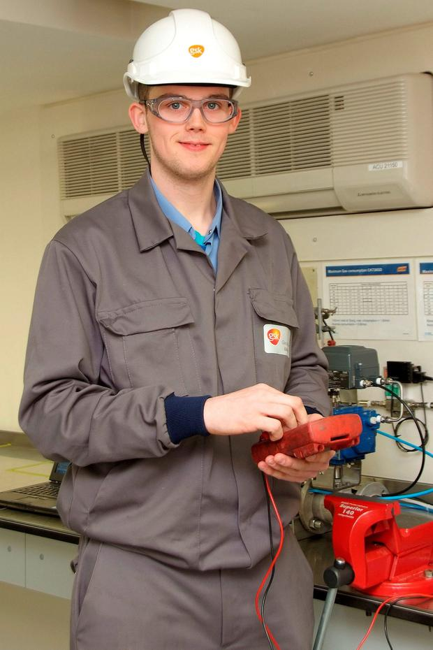 Electric dreams: 'I started looking at apprenticeships and, in talking to my guidance counsellor, I realised that electrical instrumentation was what I wanted to do,' says Adam Looney.