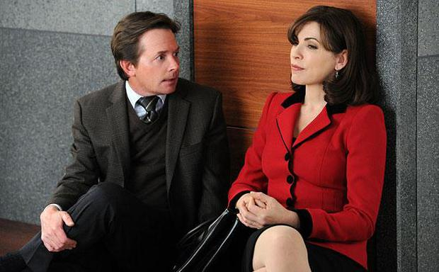Michael J Fox and Julianna Margulies in The Good Wife