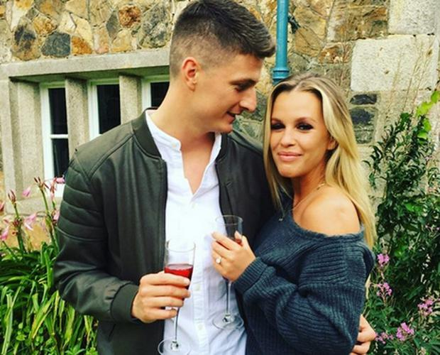Model Holly Keating and fiancé Michael McCarthy. Picture: Instagram