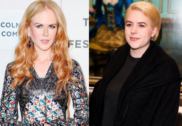 Nicole Kidman, left, and daughter Bella Cruise, right