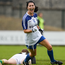 20 August 2016; Therese Scott of Monaghan celebrates after scoring her sides third goal during the TG4 Ladies Football All-Ireland Senior Championship Quarter-Final game between Monaghan and Kerry at St Brendan's Park in Birr, Co Offaly. Photo by Sam Barnes/Sportsfile