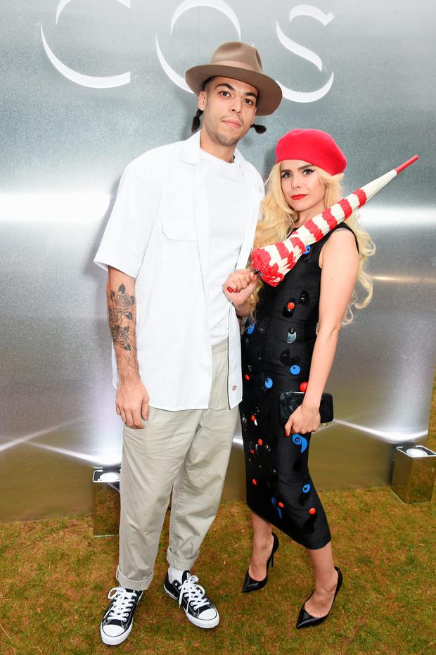 Paloma Faith (R) and Leyman Lahcine attend the COS x The Serpentine party at The Serpentine Gallery on July 14, 2015 in London, England. (Photo by David M. Benett/Dave Benett/Getty Images for COS)