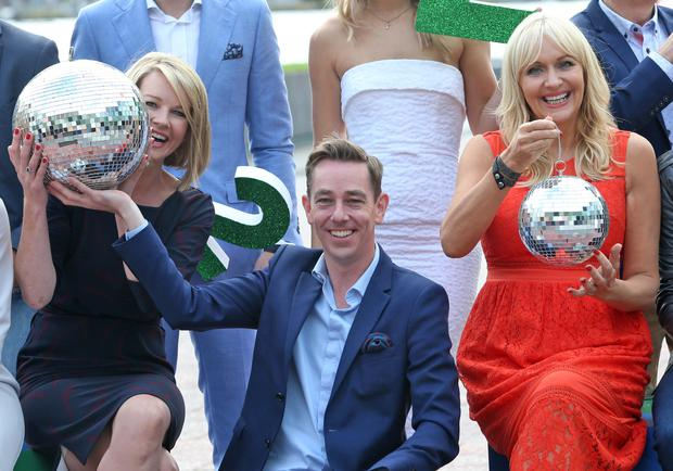 Claire Brrne, Ryan Tubridy and Miriam O'Callaghan pictured this morning at the Bord Gais Theatre at the launch of the new season's shows for RTE 1 and RTE 2. Picture Colin Keegan, Collins Dublin.