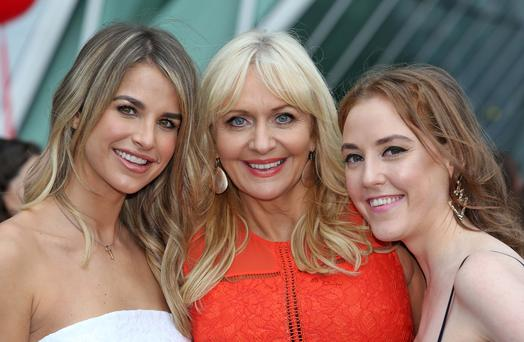Vogue Williams, Miriam O'Callaghan and Louiise O'Neill pictured this morning at the Bord Gais Theatre at the launch of the new season's shows for RTE 1 and RTE 2. Picture Colin Keegan, Collins Dublin.