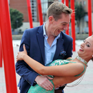 Ryan Tubridy and dancer Shauna Finn pictured this morning at the Bord Gais Theatre at the launch of the new season's shows for RTE 1 and RTE 2. Picture Colin Keegan, Collins Dublin.