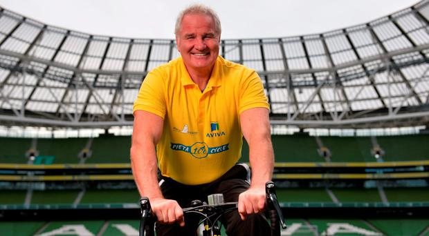 Brent Pope at the launch of the Pieta 100 cycle at the Aviva Stadium. Photo: Piaras Ó Mídheach/Sportsfile