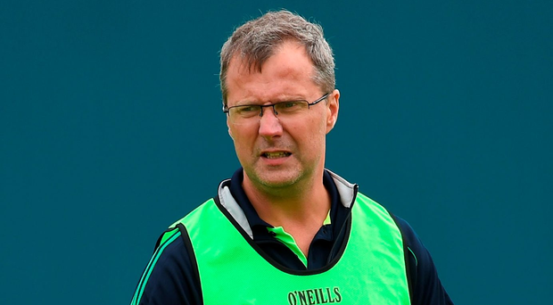 Limerick manager John Brudair. Photo: Ramsey Cardy/Sportsfile