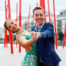Ryan Tubridy with dancer Shauna Finn at the RTÉ new season launch at the Bord Gáis Energy Theatre. Photo: Andres Poveda