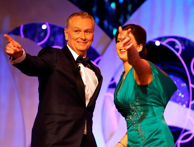 Daithi O Shea pictured dancing with Monaghan Rose Pamela Allen. Photo:Frank Mc Grath