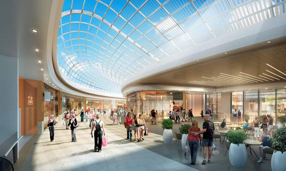Plans approved include additional 22,000 sq. m. net retail space; a major new civic plaza and a 2,500 seat Olympic-sized indoor ice arena.
