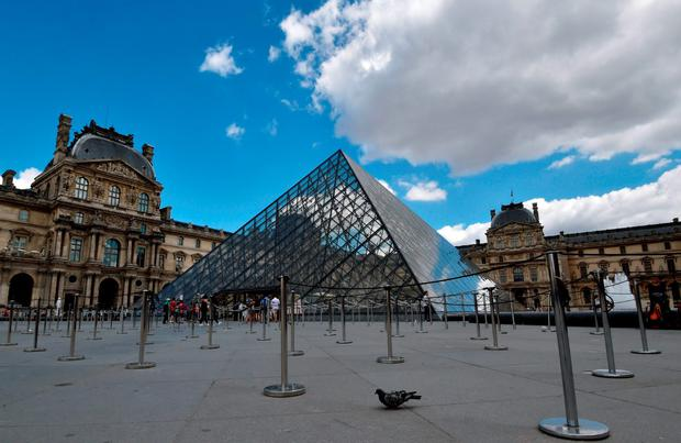 Below: The Louvre museum. Photo: AFP/Getty