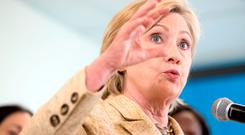 Democratic candidate Hillary Clinton. Photo: AP