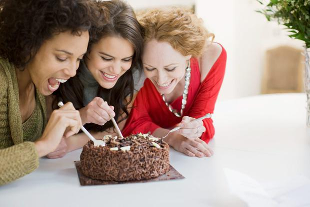 'For women in particular, food is linked to emotions. Women eat when they are happy, sad, stressed, worried . . . not just when they are hungry. Women bond over food'. Stock photo: Getty