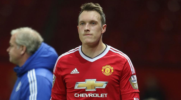 Phil Jones has four years left on his deal, including options, and earns in excess of £100,000 a week, which would make his salary a big commitment and out of the range of most clubs Picture: Getty