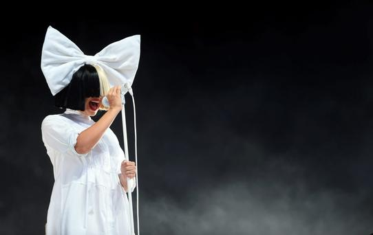 Sia performs at V Festival at Hylands Park on August 20, 2016 in Chelmsford, England. (Photo by Stuart C. Wilson/Getty Images)