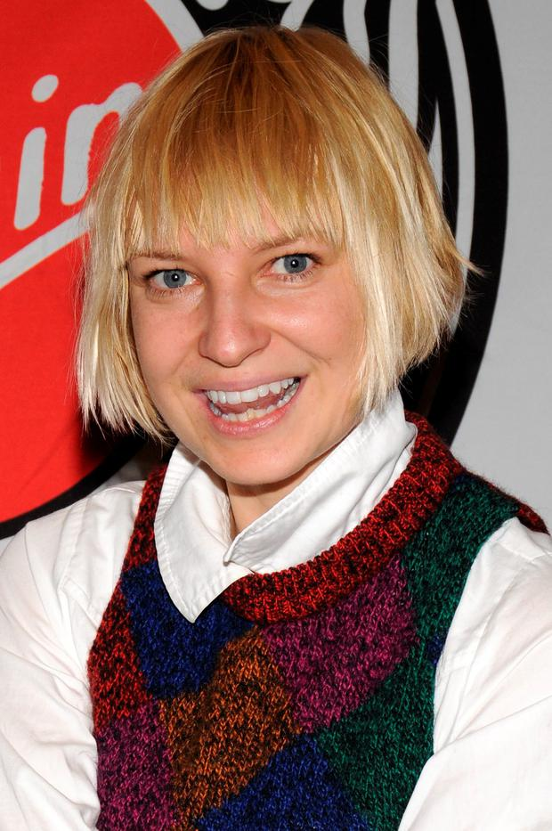 Singer SIA appears at Virgin Megastore Union Square to perform and sign autographs on January 9, 2008 in New York City. (Photo by Bryan Bedder/Getty Images)