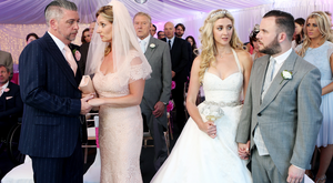 Robbie and Carol tie the knot alongside Kerri-Ann and Decco. Photo: RTE