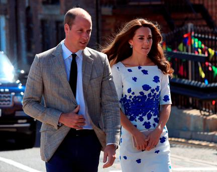 The Duke and Duchess of Cambridge arrive at Bute Mills in Luton, to tour the facilities of national charity Youthscape. Picture: Jonathan Brady/PA Wire