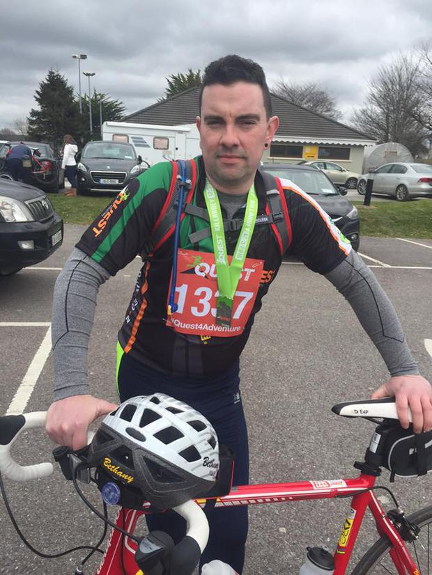Dale Farrell is competing in the Quest Adventure Series to raise vital funds for Féileacain and Mullingar's Maternity Unit