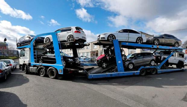 Some of the vehicles seized last March
