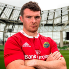 Peter O'Mahony in the Aviva Stadium at the launch of this season's Pro 12. Photo: INPHO/Gary Carr