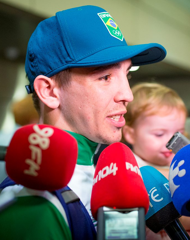 Boxer Michael Conlan talks to the media Photo: Arthur Carron
