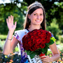 Newly crowned Rose of Tralee Maggie McEldowney in the Rose Garden Photo: Frank Mc Grath