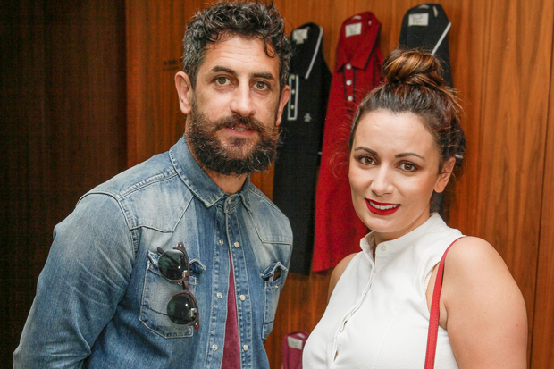 GAA Star Paul Galvin and Louise Duffy at the Original Penguin AW Collection preview