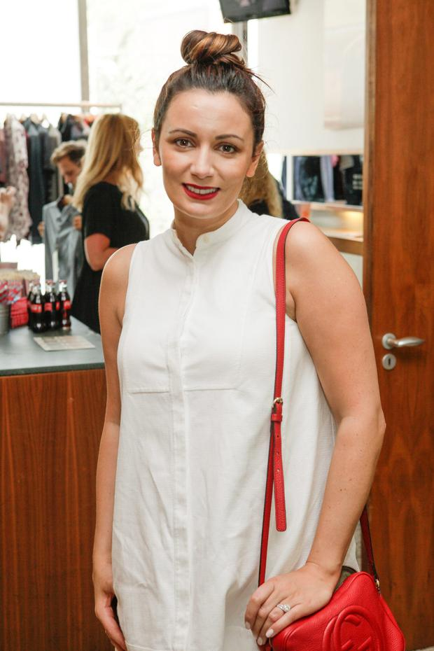 RTE's Louise Duffy at the Original Penguin AW Collection preview at Denzille Cinema 24 August