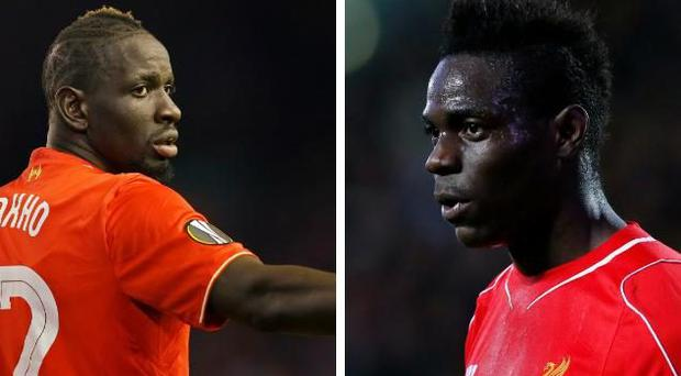 Mamadou Sakho (left) and Mario Balotelli are both expected to leave Liverpool before the transfer window closes
